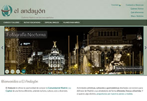 Website for tourisme and leisure in Madrid