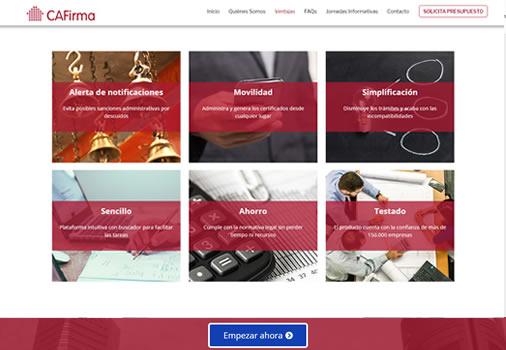 Web de producto colectivo + calculadora de presupuestos