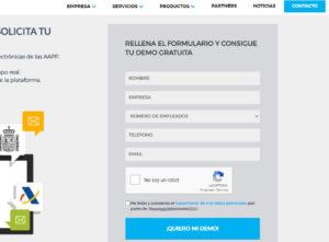 Formulario de solicitud de acceso a página protegida