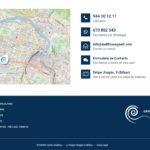 Pie de página e inclusión de datos de contacto en secciones