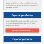 Opciones para la exportación y visualización