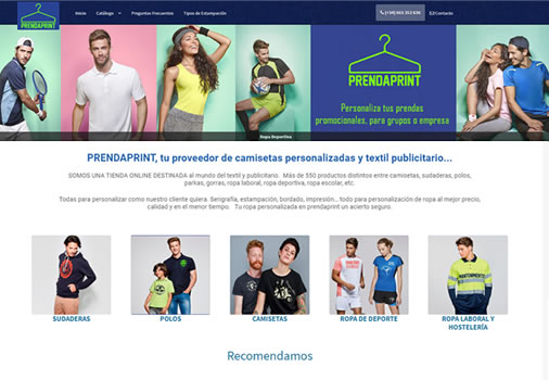 Tienda de ropa personalizada