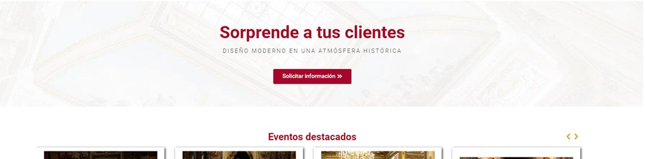 Web promoción de local para eventos